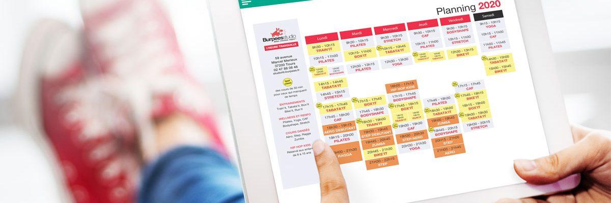 Nouveau planning fitness mars 2020